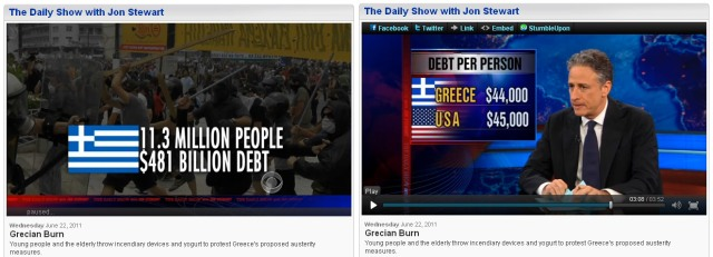Grecian burn - the daily show with Jon Stewart